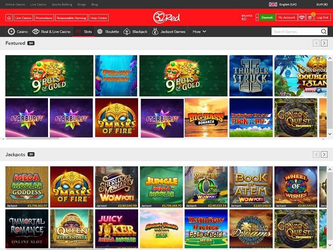 32 Red Casino Lobby