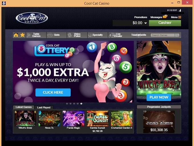 cool cat casino new home