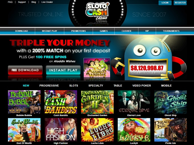 SlotoCash Casino hp