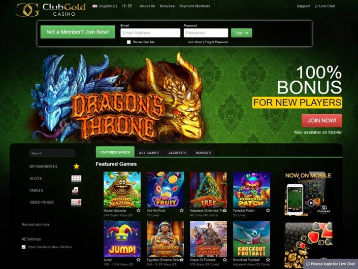 Club Gold Casino Bonus Code April 2017