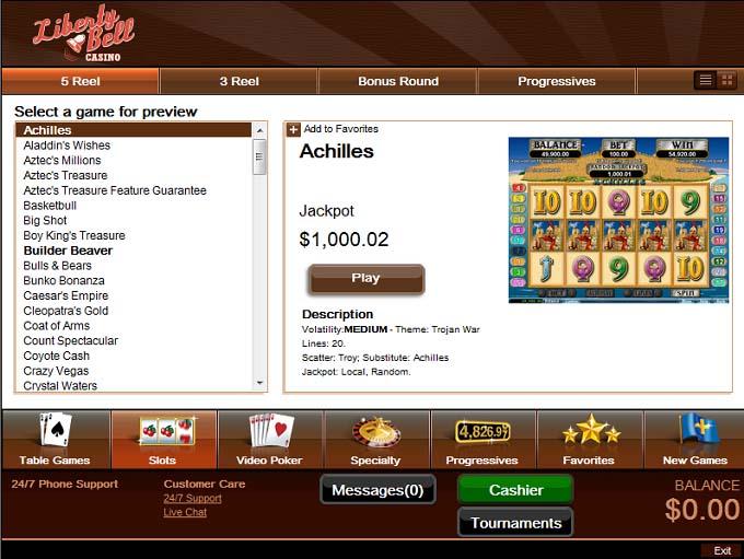 liberty bell casino no deposit bonus