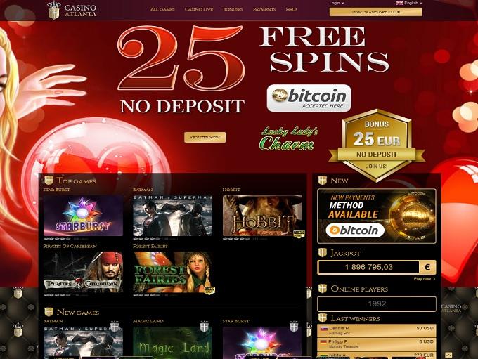 Casino atlanta no deposit bonus