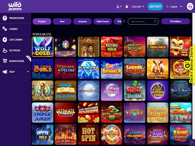 Wild Jackpots Sign Up