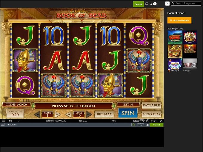 Gala Casino New Game1