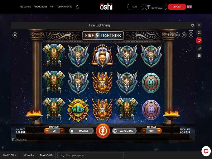 Oshi Casino 08.02.2021. Game 1