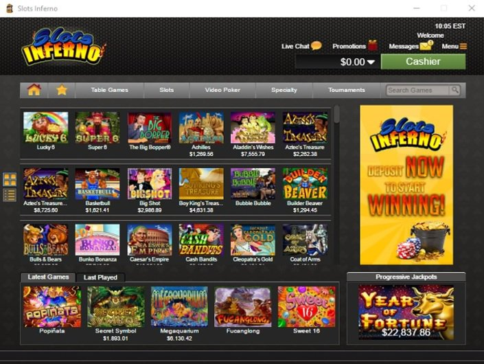 Slot inferno casino bonus codes
