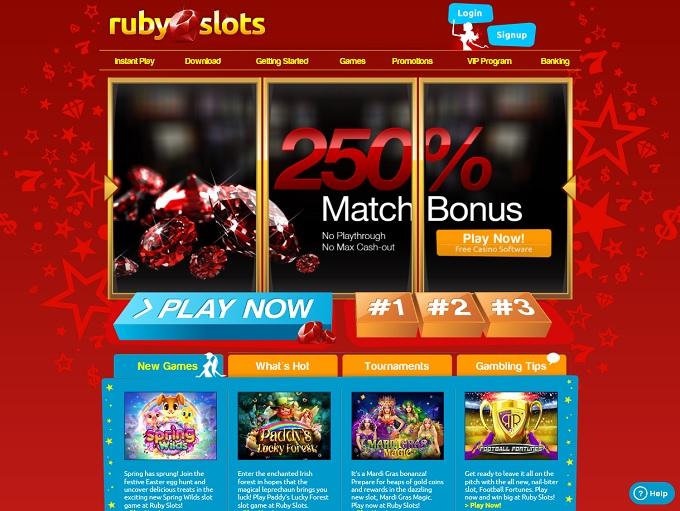 Ruby Slots Casino 19.04.2021. hp