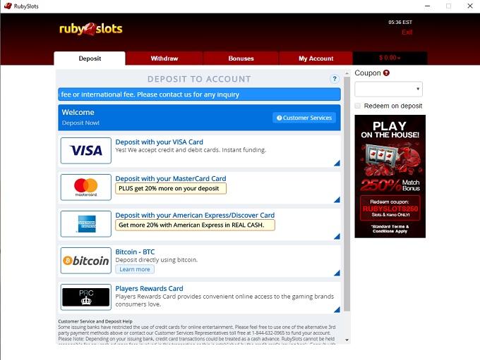 Ruby Slots Casino 19.04.2021. bank