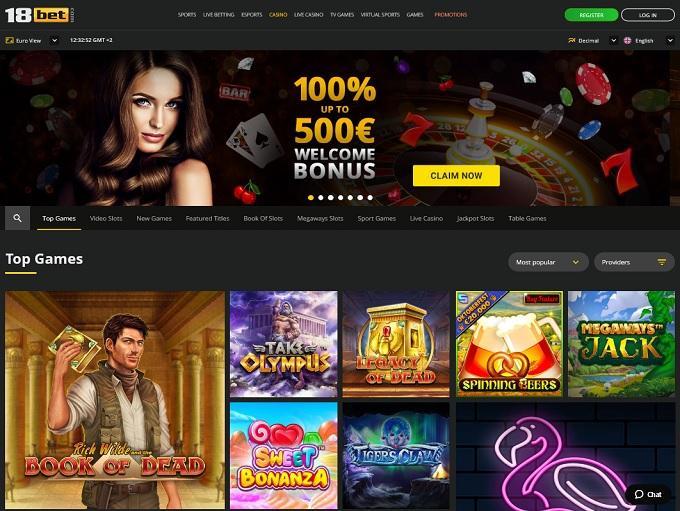 18Bet Casino 24.09.2021. Hp