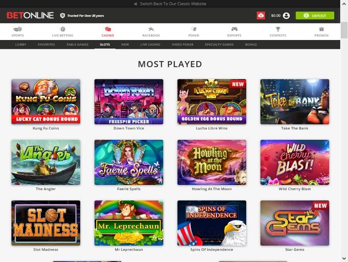 BetOnline Casino Lobby