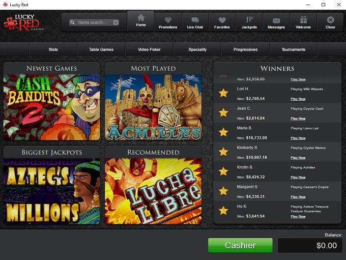 Lucky Red Casino Signup Bonus