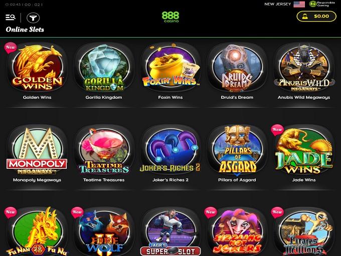 888Casino New Lobby