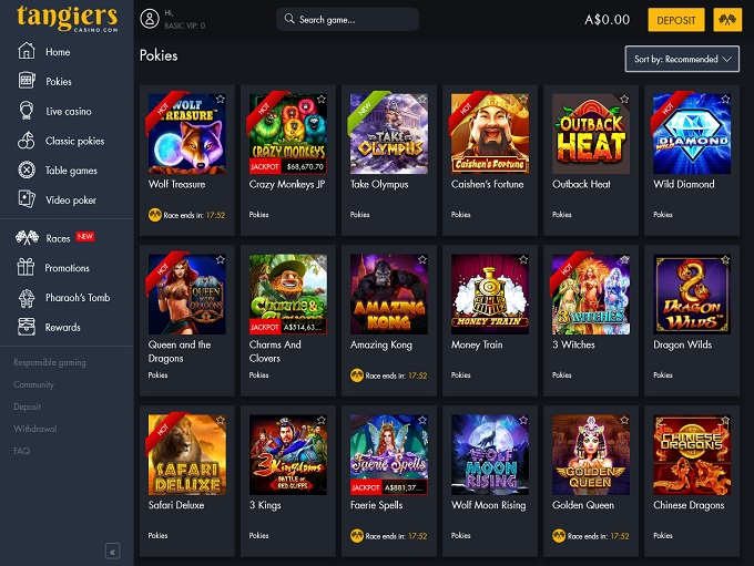 Tangiers Casino 26.05.2021. lobby