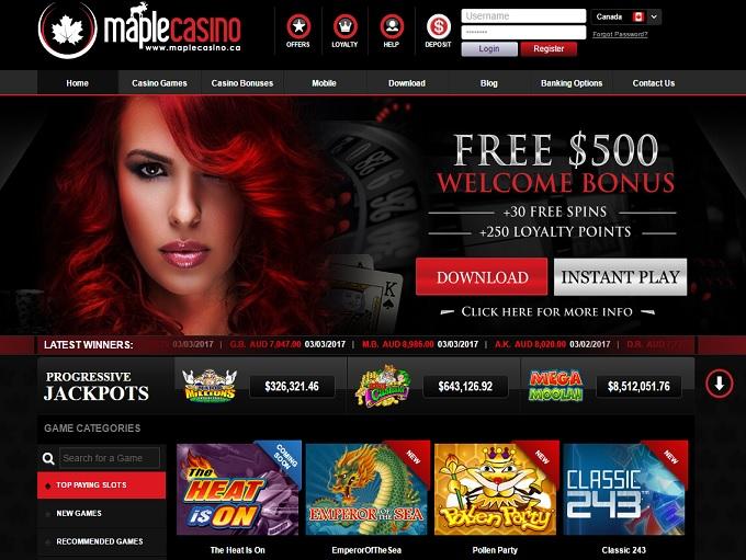 maple casino hp new
