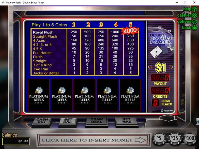 Platinum Reels Casino 19.03.2021. Game 3