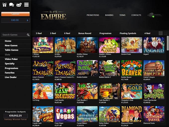 Slots Empire 06.05.2021. lobby
