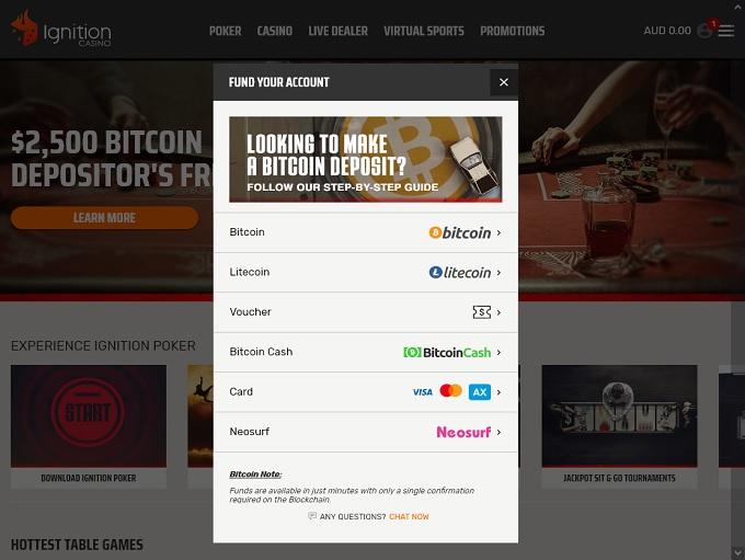 Ignition Casino Bank