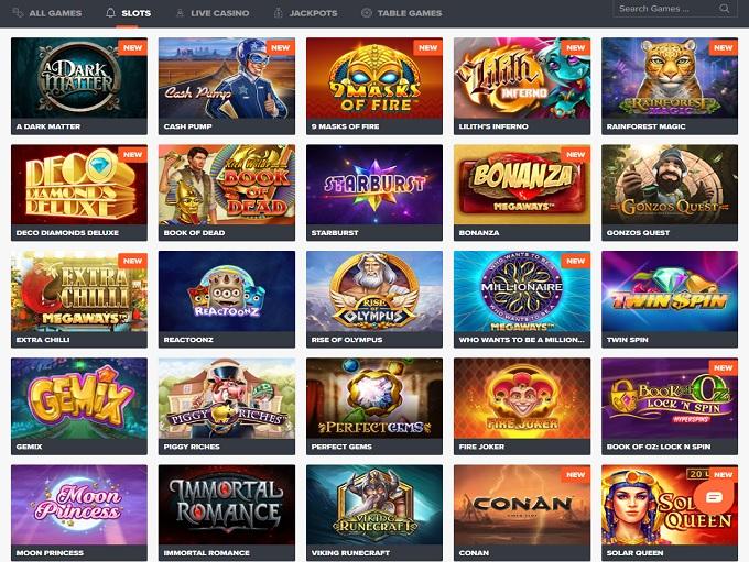 Ninja Casino new lobby