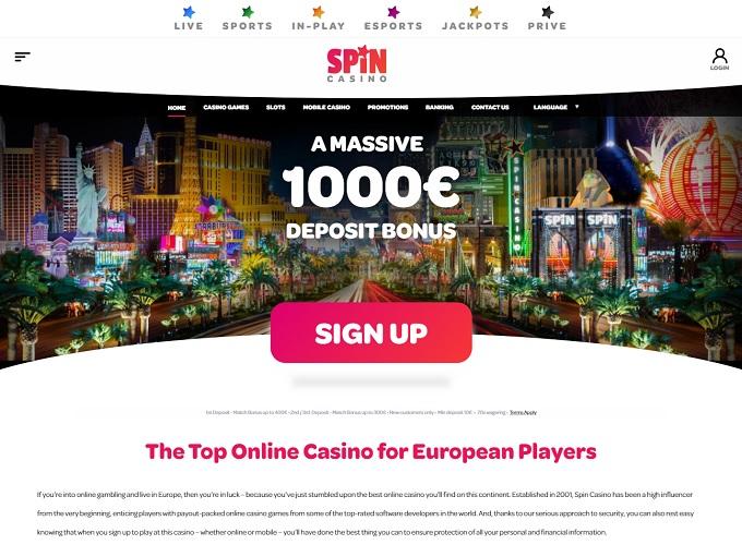Spin Casino 18.05.2021. hp