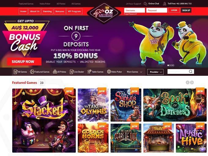OzLasVegas Casino hp