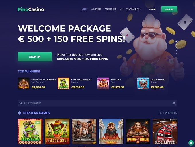Pino Casino hp