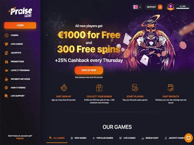 Praise Casino hp