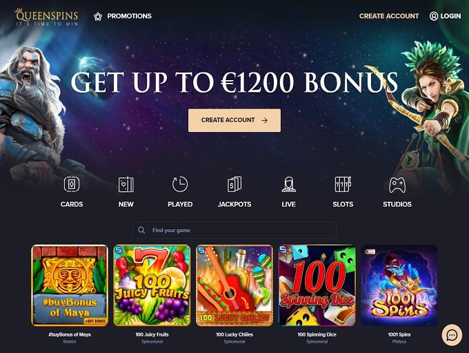 Queenspins Casino hp
