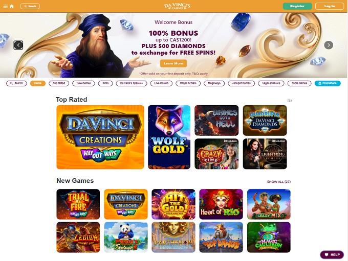 Da Vinci's Casino Hp