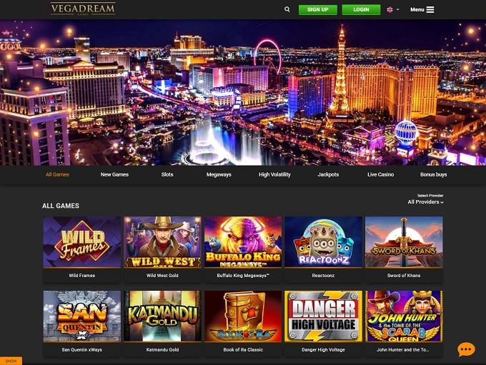 Vegadream Casino hp