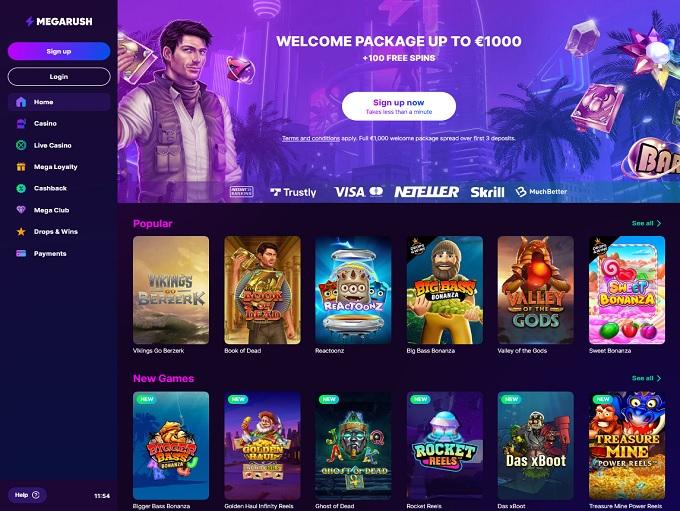 MegaRush Casino hp