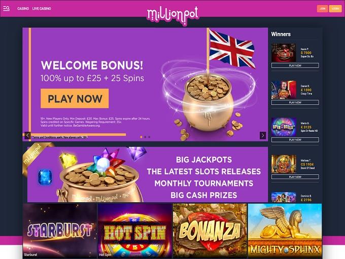 Millionpot Casino hp