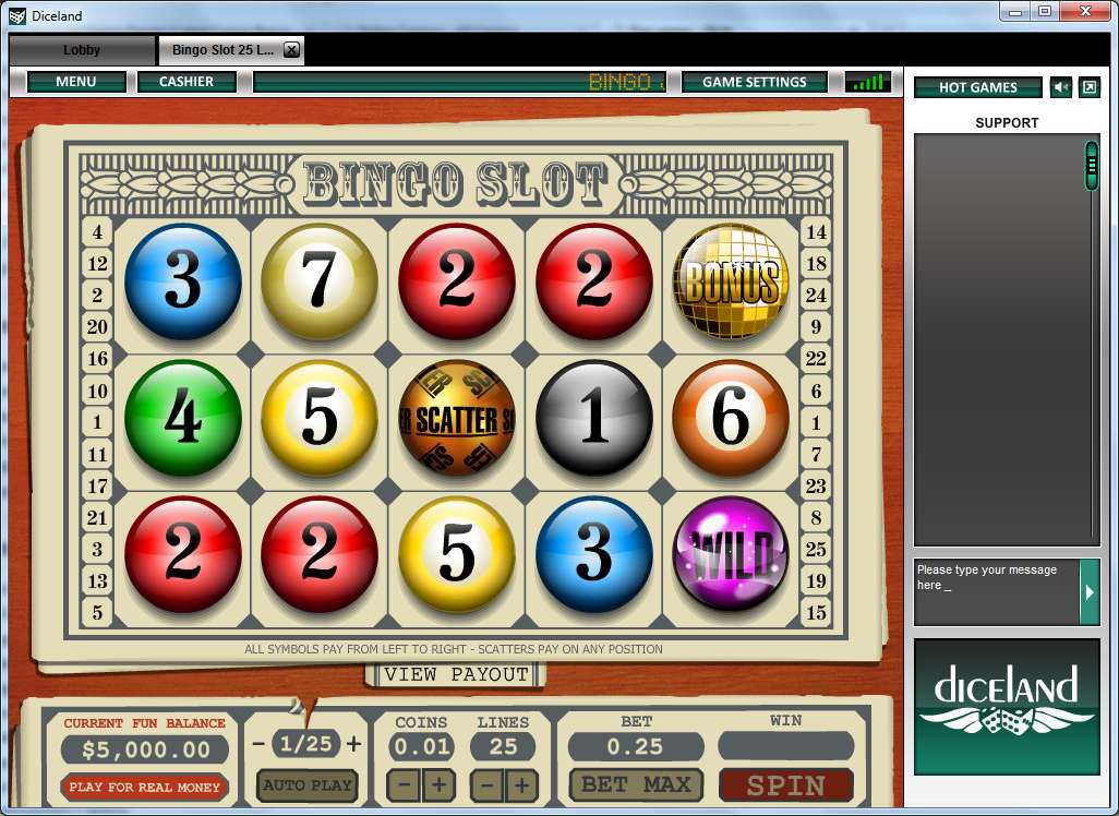 Online bingo and slot games