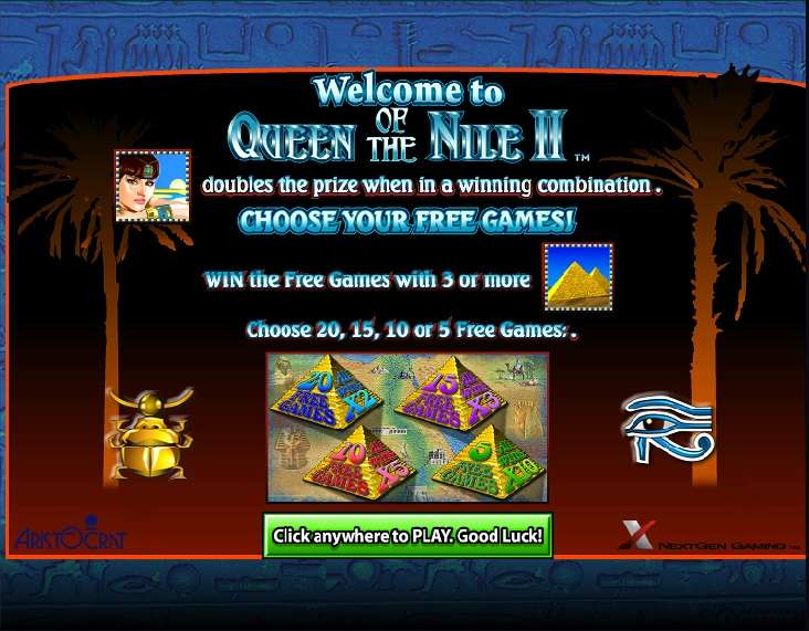 Free online casino games queen of the nile