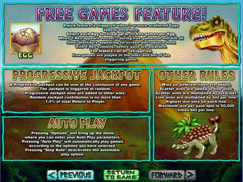 T rex free slot casino