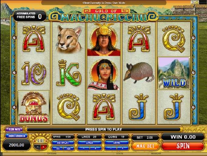 Spiele Machu Picchu Gold - Video Slots Online