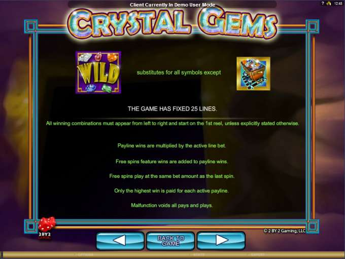 Series cheats crystal gems 2by2 gaming slot game 777