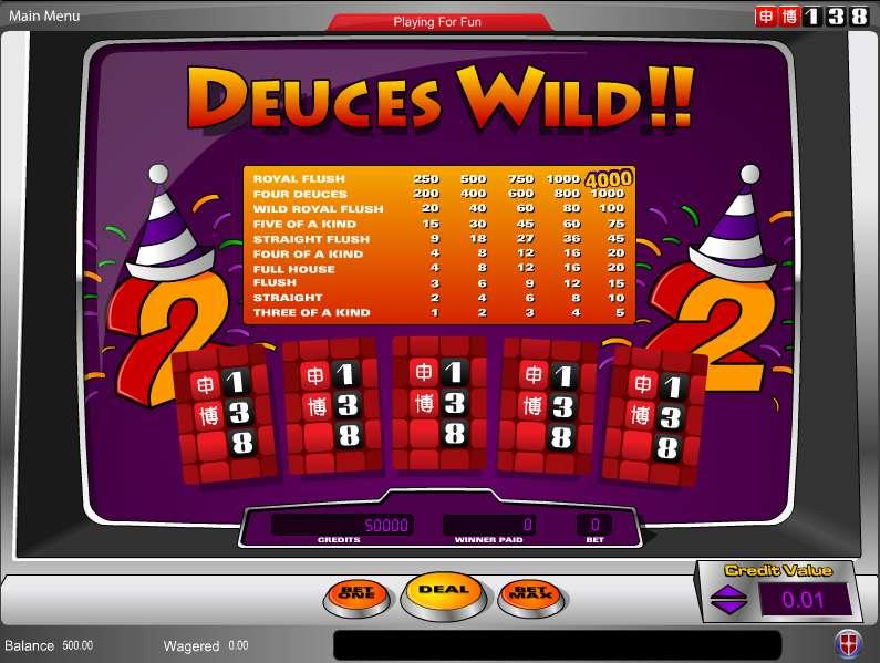 Casino deuces poker review wild creature evolution online games