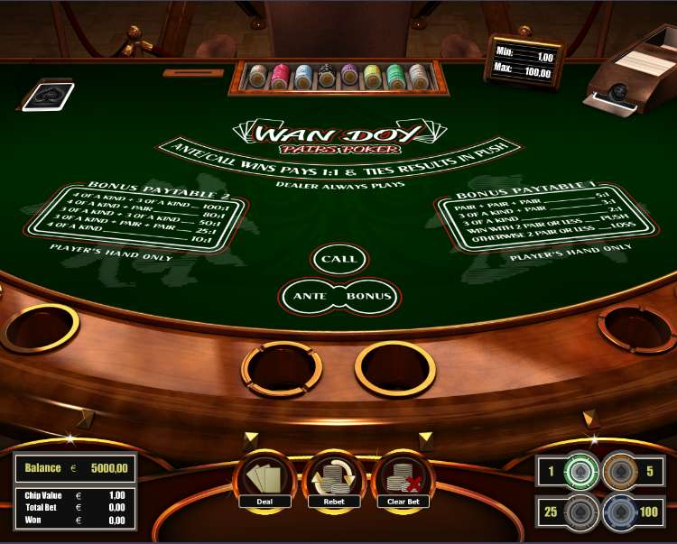 Play Wan Doy Poker & other Poker from The Art Of Games for Free