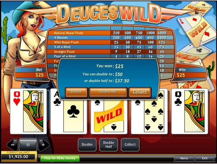 Play Free Video Poker Deuces Wild