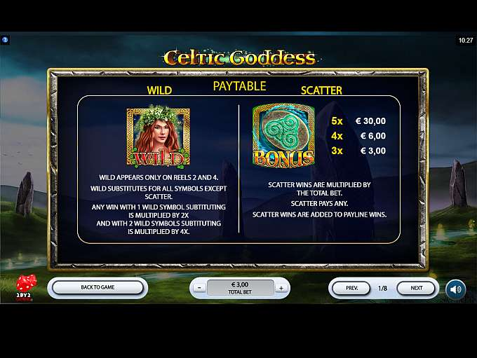 Celtic Goddess Slot Review - Powered By 2By2 Gaming