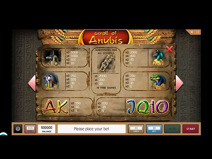 Spiele Scroll Of Anubis - Video Slots Online