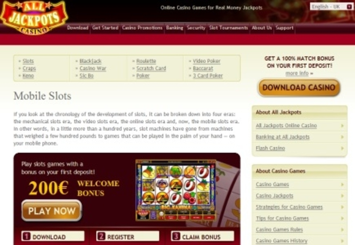 All Jackpots Casino Launches Mobile Platform Gambling News On Lcb