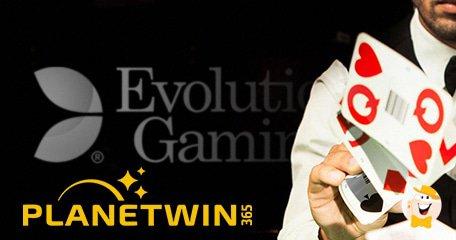 Evolution Gaming Goes Live Via PlanetWin365