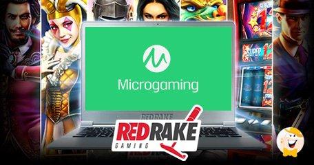 与Microgaming提供商达成的Red Rake游戏笔内容分发协议