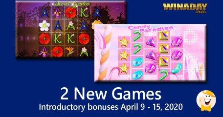 Candy Paradise And Secrat Garden Unveiled By Winaday Casino
